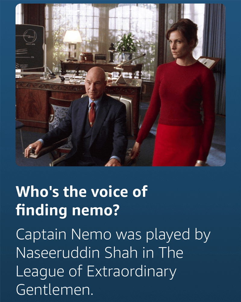 Alexa returns incorrect answer for who's the voice of Finding Nemo?