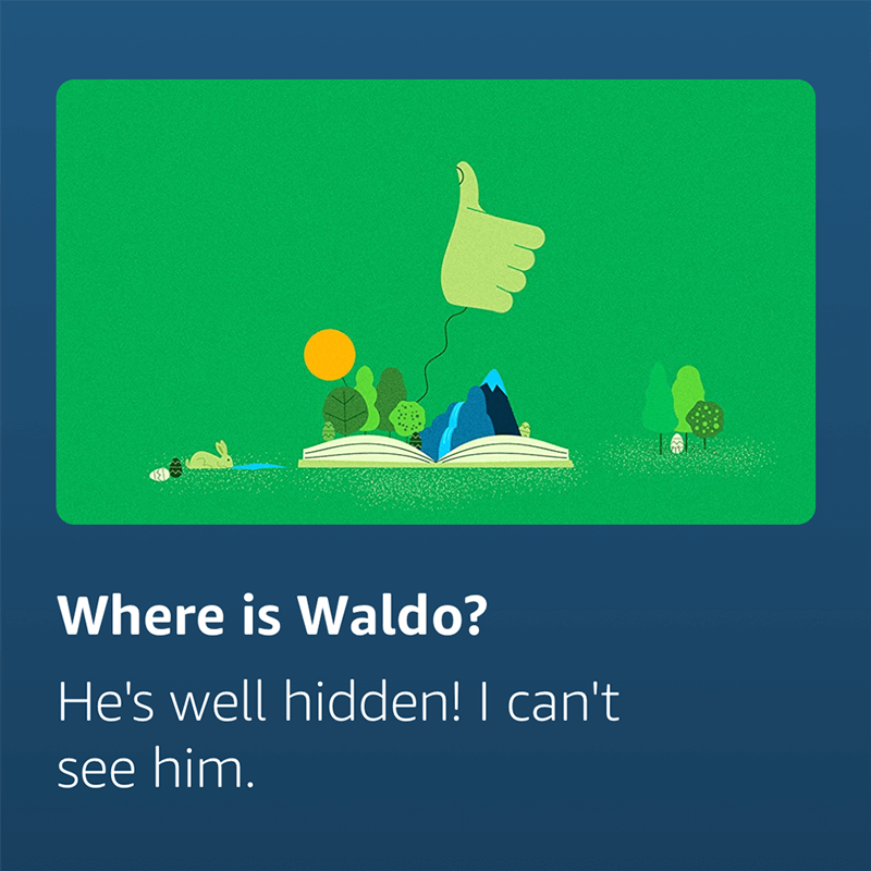 "Cortana answered voice search ""Where is Waldo""?"
